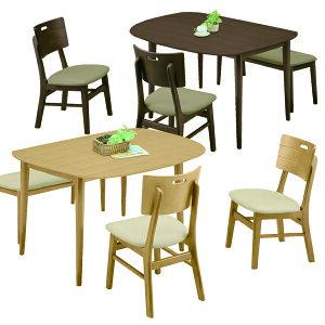 ダイニングセット 4点 幅130cm ダイニングテーブルセット 4人掛け 4人用 ベンチタイプ ブラウン ナチュラル 選べる2色 130×80 変形テーブル 座面 合成皮革 PVC 合皮 北欧 モダン シンプル オシャ