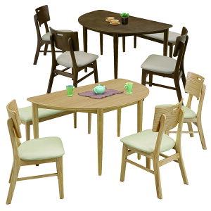 半円テーブル ダイニングセット 5点 幅130cm ダイニングテーブルセット 5人掛け 5人用 ベンチタイプ ブラウン ナチュラル 選べる2色 130×80 座面 合成皮革 PVC 合皮 北欧 モダン シンプル オシャ