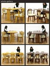 ダイニングテーブルセットダイニングセット7点セット6人掛けテーブル幅180cm回転チェアナチュラルブラウン選べる2色座面合成皮革PVC合皮北欧シンプルモダンダイニング長方形木製楽天通販送料無料