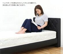 ベッドシングルシングルベッド合皮ベッドフレームマット付きすのこベッドすのこフロアベッドローベッドブラックホワイト選べる2色高さ調節コンセント付き合成皮革PVCボンネルコイル北欧モダンシンプルおしゃれ楽天通販送料無料