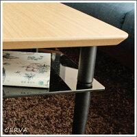 テーブル座卓センターテーブル幅105cm奥行55cm高さ38cmナチュラル強化ガラス棚付き収納おしゃれ北欧シンプルモダン木製長方形完成品送料無料