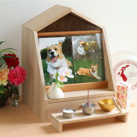 ペット仏壇かわいいココハウスコンパクト手作り無垢材5寸4寸3寸2匹多頭飼い犬猫国産日本製木製桐木メモリアルボックス