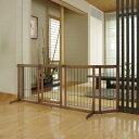 【リッチェル】 ペット用 木製おくだけドア付ゲート L
