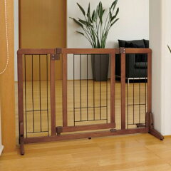 [在庫処分]【リッチェル】 ペット用 木製スタンドドア付ゲート 90