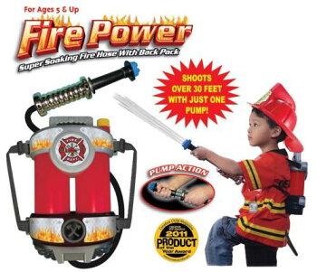アメリカ直輸入!お子様向け消防ホース型水鉄砲「ファイヤーパワー(FirePower)」