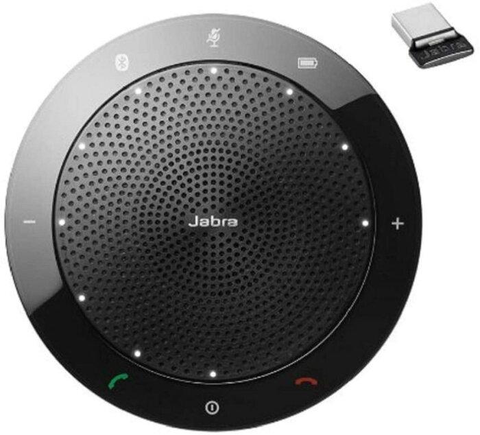 Jabra Speak 510 MS Link 370 USB アダプター付 ワイヤレススピーカー スピーカーフォン PC スピーカー マイク Bluetooth USB テレワーク 7510-309 輸入品