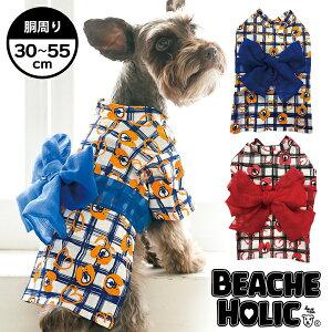 [60% DE DESCUENTO ★ Mitad de precio o menos] [Primavera / Verano 2019] [BEACHE HOLIC] Biche Holic Rough Check Yukata Tamaño de perro pequeño y mediano