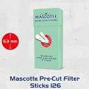 MASCOTTE マスコット POP-UPエクストラスリムフィルター126個入(直径5.3mm) 手巻きタバコ