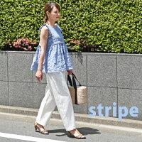【日本製】【授乳服マタニティトップス】ショルダーフリルを施した♪コットンローンプリントの授乳口つきノースリーブブラウス