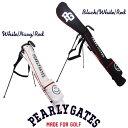 【NEW】PEARLY GATES SELF STAND SERIESパーリーゲイツ・クラブスマイリーセルフスタンドバッグ 軽量・ショルダー&フード付き【053-0984770】【CLUBSMILY】・・・