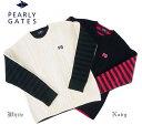【NEW】PEARLY GATES パーリーゲイツレディス ケーブル&ボーダーセーター270186/15A
