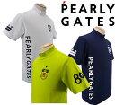 【NEW】PEARLY GATES パーリーゲイツ★PG STAR★接触冷感・UVカットソルディフェンダー メンズ 半袖モックシャツ=JAPAN MADE= 053-1267701/21C・・・