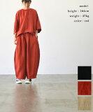 HARVESTY ハーベスティリネンレーヨンキャンバスクロップドサーカスパンツ(全3色)【送料無料】【あす楽対応】A12010