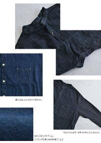 pritプリット6ozデニム7分袖スタンドカラーシャツ(全2色)【送料無料】【あす楽対応】P81143