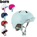 バーン Bern ヘルメット 女の子用 ニーナ オールシーズン キッズ 自転車 スノーボード スキー スケボー ...