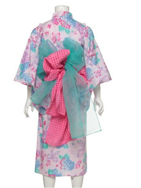 ナルミヤmezzopiano(メゾピアノ)『紫陽花柄2WAY浴衣』