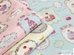 人気のYUWA(有輪)「スイーツロンド」綿100%、マカロンやカップケーキなどまるでパリのおしゃ...