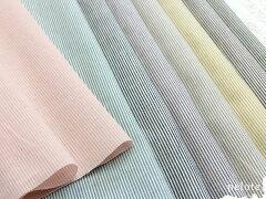 春夏のお洋服におすすめ☆爽やかなピンストライプの綿麻シャンブレーがポイント10倍!!