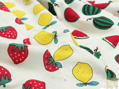 新商品、フルーツ柄のとっても可愛らしいスムースニットがポイント10倍♪