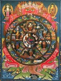六道輪廻図(Wheel of Life)/仏画/曼荼羅/チベット-BB
