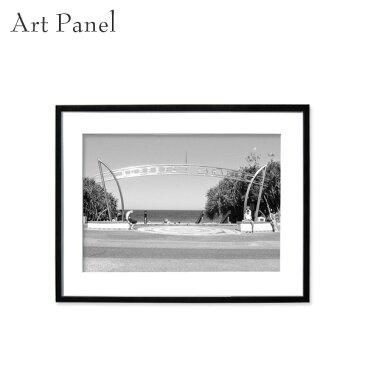アートパネル モノトーン サーフィン 壁掛け 白黒 インテリア モダン アートボード 額付き モノクロ写真