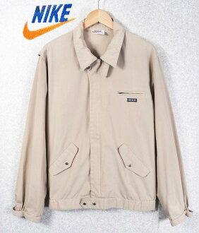 復古1970年代/NIKE耐吉/orenjisuusshu/運動外套防寒夾克服/淺駝色/人L[中古]