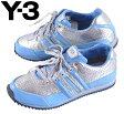 Y-3 adidas×YOHJI YAMAMOTO アディダス×ヨウジヤマモト / SPRINT スプリント / シルバー×水色 エナメル / JPN21.0cm【中古】♪○