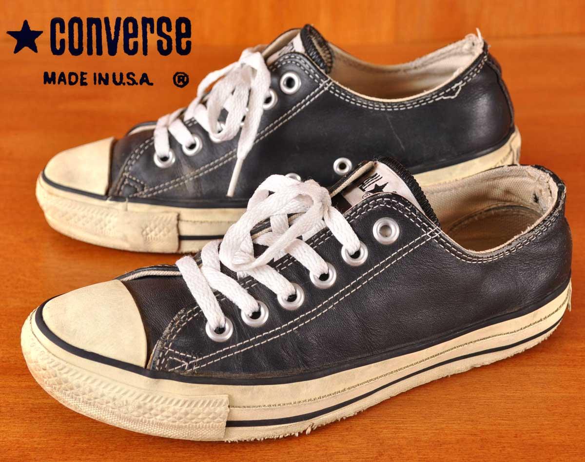 レディース靴, スニーカー  1990 USA CONVERSE ALL STAR Lo LEATHER JPN24.0cm
