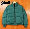 ヴィンテージ 1980年代 USA製 / Schott ショット / ダウンジャケット 【Lot:AT903N】/ グリーン / メンズM【中古】▽