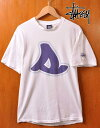 00's / STUSSY ステューシー / 半袖Tシャツ / ホワイト×ビッグSロゴ / メンズM【中古】▽