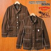 【コラボ】2005年 日本製 / JUNYA WATANABE MAN COMME des GARCONS×POINTER ジュンヤワタナベ マン コム・デ・ギャルソン×ポインター / リバーシブル カバーオール / ブラウン / メンズS【中古】▽