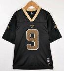 Reebok リーボック NFL New Orleans Saints ニューオーリンズ・セインツ ドリュー・ブリーズ フットボールシャツ ナンバリング メッシュ ユニフォーム ブラック レディースL【中古】▼