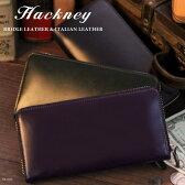 Hackney/ハックニー ブライドルレザー&イタリアンレザー HK-003 ラウンドファスナー 長財布