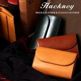 Hackney/ハックニー ブライドルレザー&イタリアンレザー HK-004 三つ折り財布