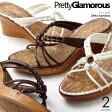 Pretty Glamorous/プリティグラマラス 7cmヒール ウェッジソール サンダル 3446