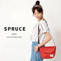 spruce/スプルスジップフラップショルダー/ショルダーバッグメッセンジャーバッグ