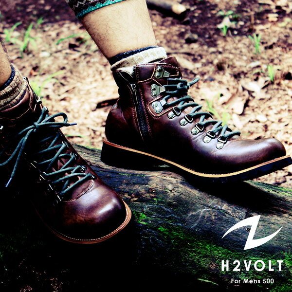 H2VOLT/エイチツーヴォルト 500 ヴィンテージスタイル サイドジップ マウンテンブーツ ショートブーツ ワークブーツ ブーツ メンズ H2VOLT500