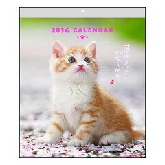 キュートなねこちゃんの壁掛けカレンダー♪カレンダー CATウォールカレンダー 2015年 アクテ...