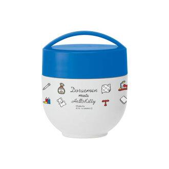 哆啦 a 夢 x Hello Kitty 超級輕量、 緊湊的保溫隔熱碗午餐 jar 速滑運動員 LDNC6 339318