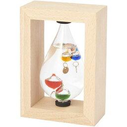 デスクアクセサリー Fun Science(ファン・サイエンス) ガラスフロート温度計 しずく(フレーム付) 333-213 インテリア おしゃれ 置き物 置物 ギフト プレゼント 父の日 母の日