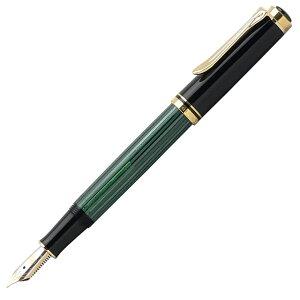 ペリカン 万年筆 スーベレーン300シリーズ M300 緑縞 【ギフト化粧箱入りボトルインク付…