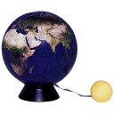 ワタナベ(渡辺教具製作所) 地球儀 環境地球儀 ブルーテラ No.W-1303 木台(月モデル付き)【 プレゼント ギフト 】(3300) 1