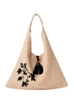 フラワー手刺繍トライアングルバッグ
