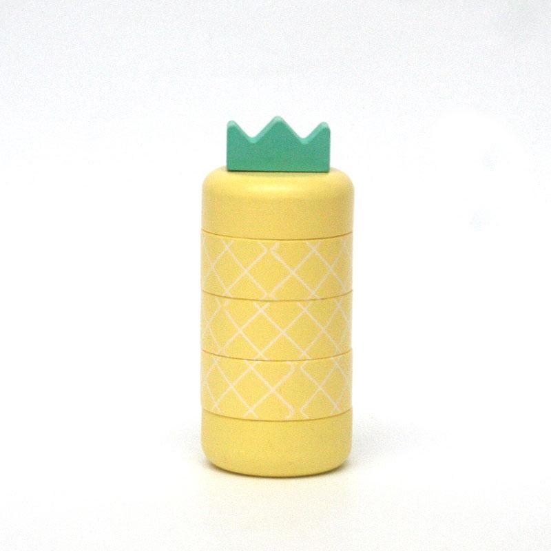 Aloha pineapple アロハ パイナップル / イエロー / kiko+ キコ / 木のおもちゃ / だるま落とし ダルマ おとし 出産祝い 誕生日 クリスマス プレゼント ギフト 子供 男の子 女の子 黄色 きいろ キイロ ごっこ遊び ゲーム 知育玩具