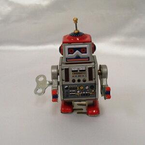 ★ジッ・ジジーと動き出す★ゼンマイ仕掛けのブリキ製 ミニロボット