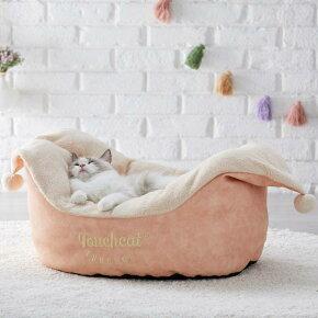 ボートベッドクラシック猫ベッドゆったりふわふわあったか秋冬かわいいピンクグレーPEPPYペピイ