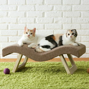 にゃんこカウチブラウンベッド椅子高級スツールソファ猫PEPPYペピイ2018秋冬