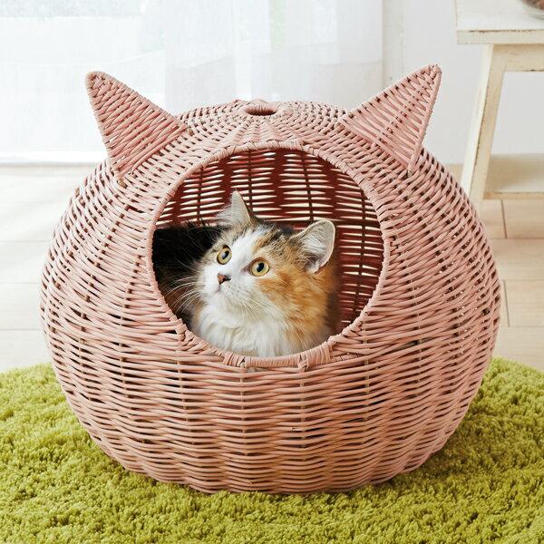猫耳まんまるドーム【ベッド ハウス かご 猫 猫用品 猫用】【2017AW】PEPPY(ペピイ)