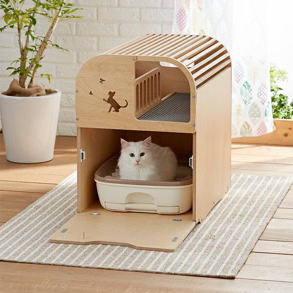 ポートトイレカバー【木製 食器台 部屋 ハウス 猫】PEPPY(ペピイ)