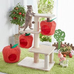 幸せのりんごタワーキャットタワー猫ペピイオリジナル2018春夏